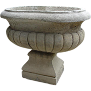 Early 1900's Reconstituted Stone Urn from France