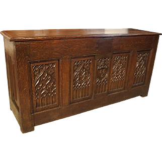 Antique Gothic Trunk from France