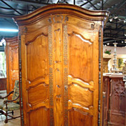 Antique Walnut Wood Armoire-Fourques C. 1815-1825