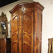 Antique Walnut Wood Armoire, Fourques Circa 1820