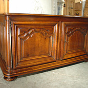 18th Century Walnut Wood Buffet- Dijon, France