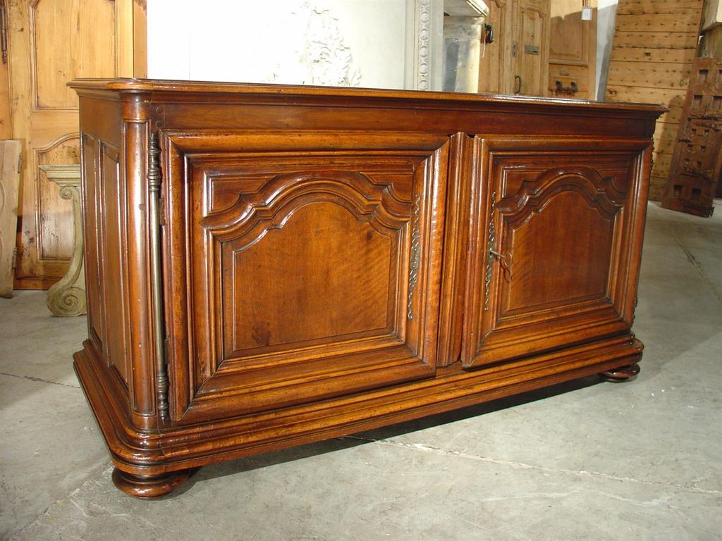 18th Century Walnut Wood Buffet- Dijon, France