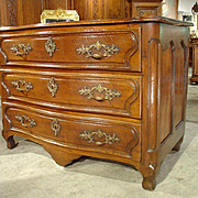 18th Century Walnut Wood Commode from France