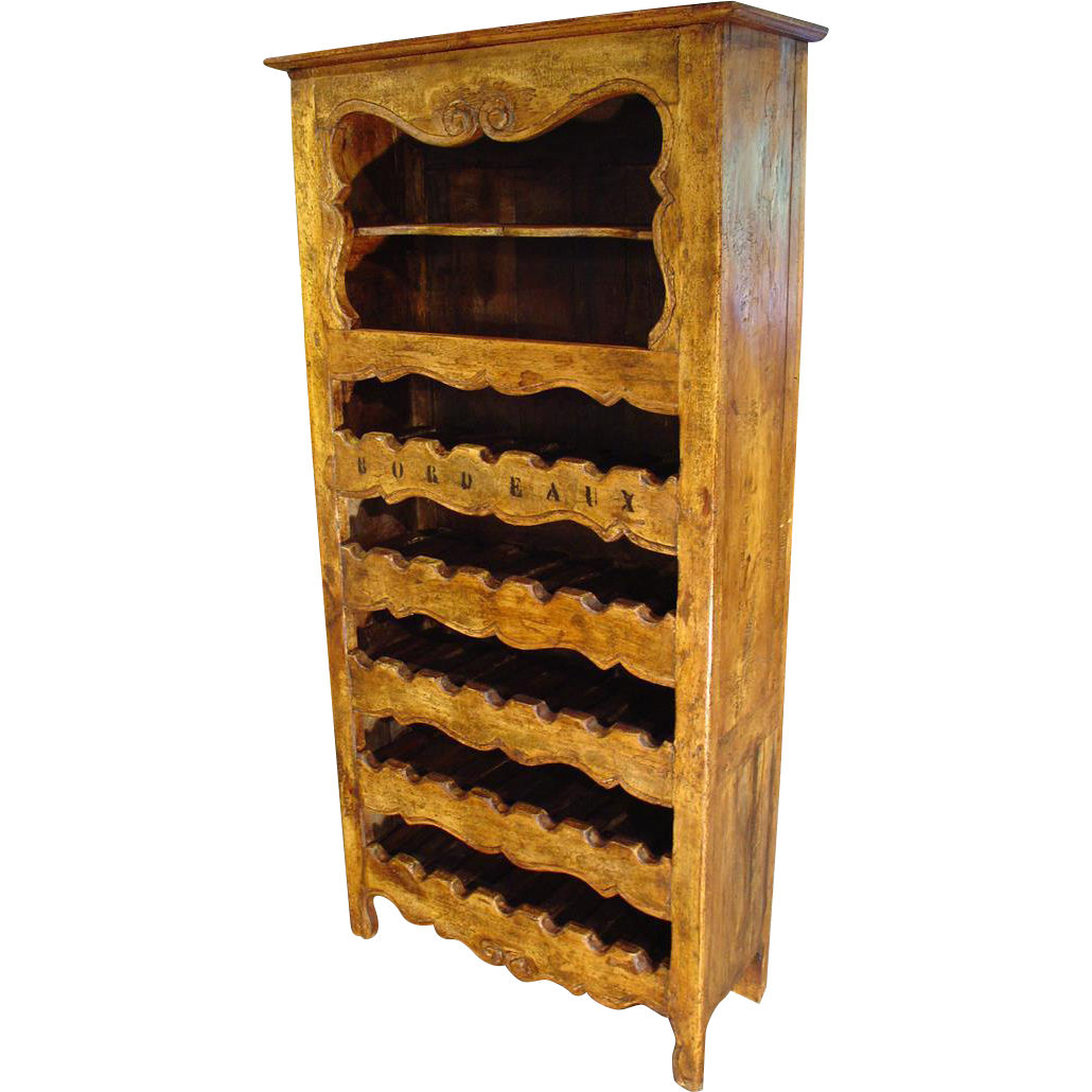 """Bordeaux"" 35 Bottle Wine Cabinet from France"