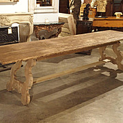 A Long Antique Spanish Farm Table Made of Pine