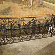 Antique Forged and Cast Iron French Balcony Gate/Console, Circa 1900
