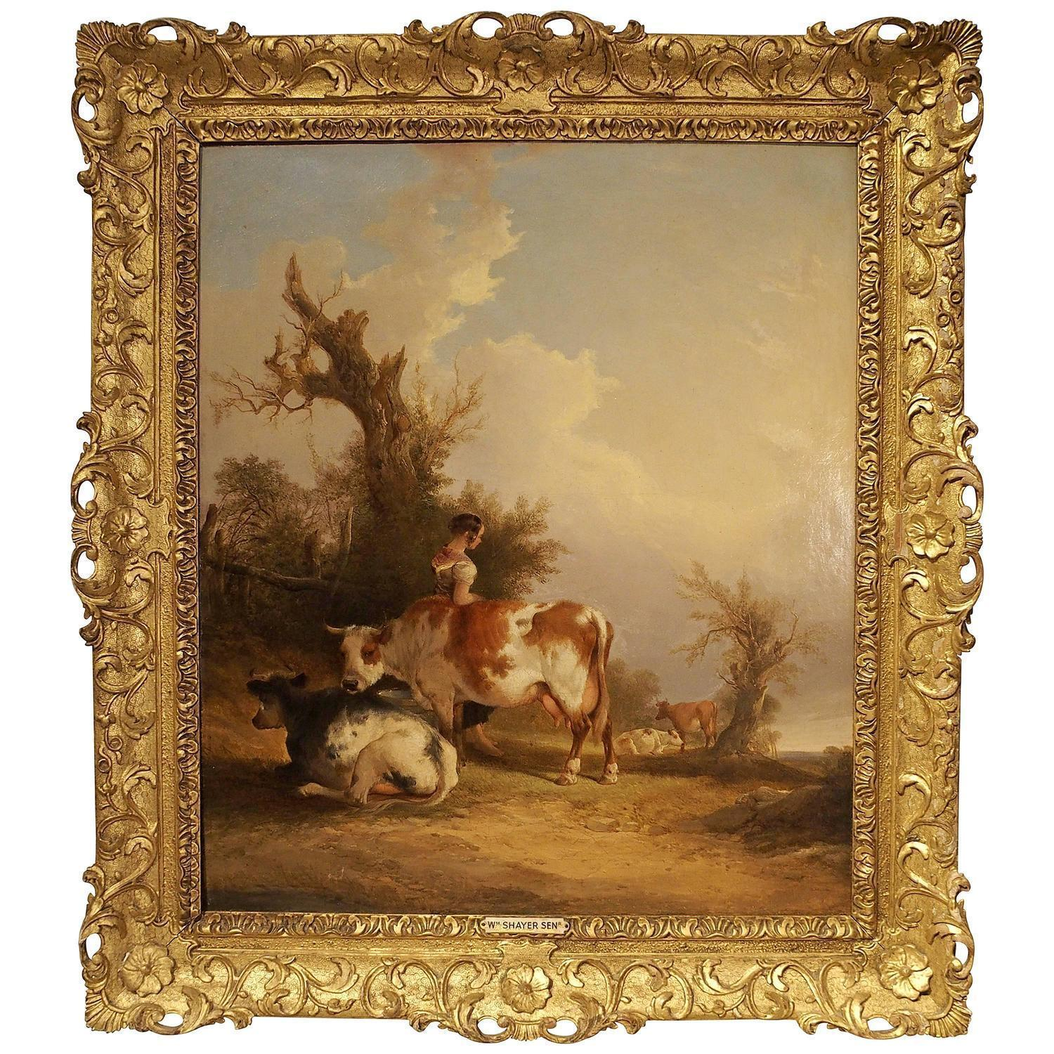 19th Century Pastoral Painting by William Shayer