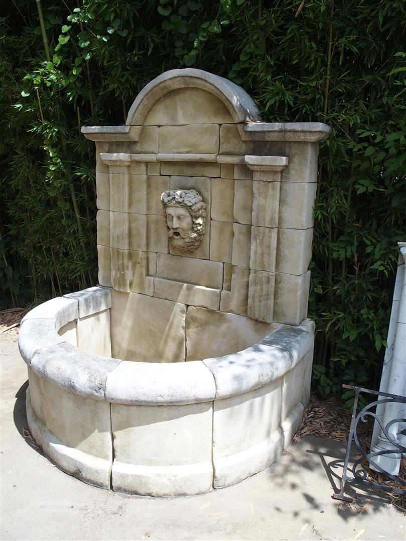 Carved Limestone Wall Fountain from France- 'Aixoise'