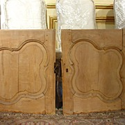 Antique Walnut Wood Buffet Doors