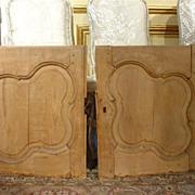 Antique Walnut Wood Buffet Doors