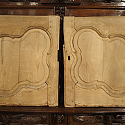 Pair of Antique Walnut Wood Buffet Doors from France, 1800s