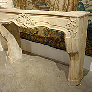 18th Century Carved Stone Fireplace Mantel from Lorraine, France