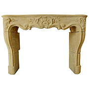 "Period Louis XV Mantel in ""Pierre de Jaumont"""