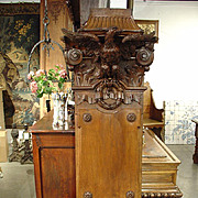 Unusual Eagle Architectural Panel/Column Pilaster from France, Circa 1880