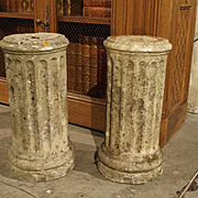 Pair of Small Period Louis XVI Stone Columns, C.1785