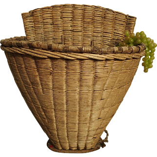 Antique Wine Grape Basket from France, Circa 1900