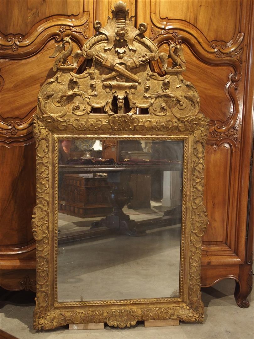 Period Louis XIV Giltwood Mirror, Circa 1700, Provence France
