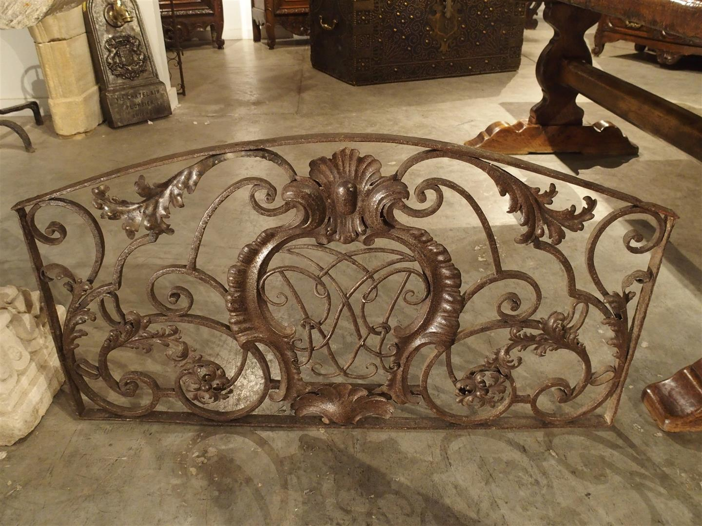 18th Century Forged Iron Gate from Bordeaux, France