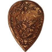 Copper Parade Shield from France, 1900s