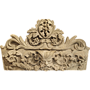 Patinated Terra Cotta Architectural Piece on Stand, France C. 1900
