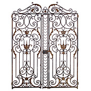 Pair of Magnificent 18th Century French Chateau Gates
