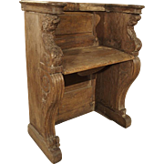 Antique Carved French Church Pew, Circa 1750