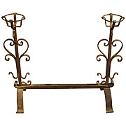 Antique One-Piece Cooking Andiron from France, Circa 1800