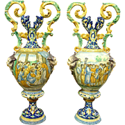 Pair of Antique Italian Vases, Circa 1885