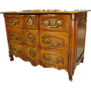 18th Century Louis XV Walnut Wood Commode