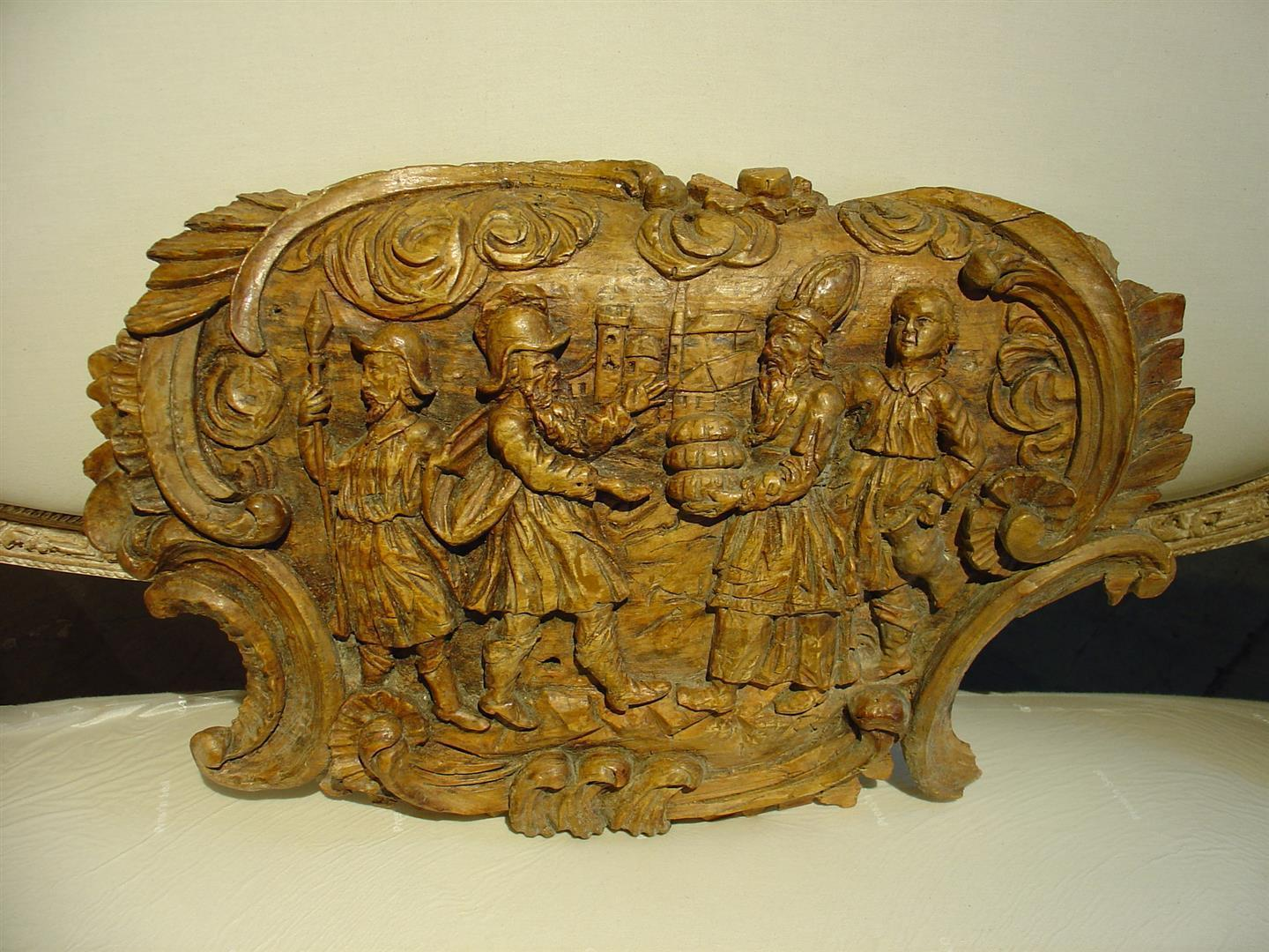 Unusual 17th Century Wood Carving Sculpture from Northern France