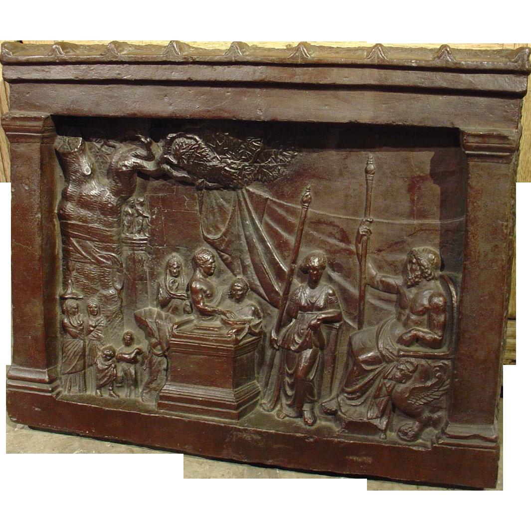 Impressive Bronze Plaque of a Classical Scene, 19th Century