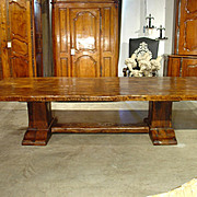 Large Oak Dining Table from France