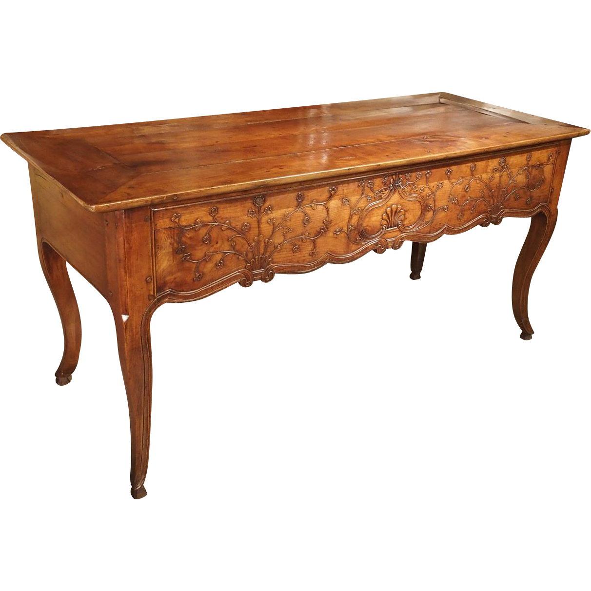 Antique Cherrywood Console Table from Rennes France, Circa 1870
