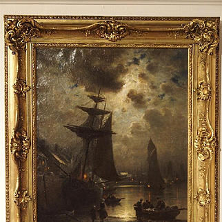 Antique French Oil Painting by Georges Maroniez