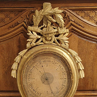 A Period Louis XVI Giltwood Barometer from France, 1774-1793