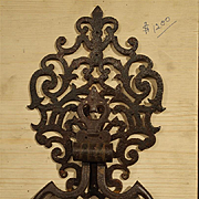 A Large Cut Iron Chateau Door Knocker from France
