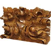 Early 18th Century Regence Carved Overdoor Fragment from France