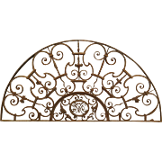 Antique Forged Iron Transom from France, Aix-En-Provence, 18th Century