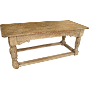 Antique Limed Oak Table from England