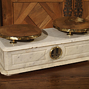 Antique Marble and Brass Paris Boulangerie Scale, Circa 1860