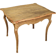 Early 1700s Stripped Oak Side Table from France