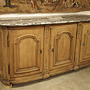 Beautiful Circa 1700 Stripped Oak Presentation Buffet from the Ile De France Region