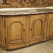 Beautiful Circa 1700 Stripped Oak Presentation Buffet from the Ile De France Region