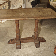 A French Oak Bistro or Restaurant Table, Mid 1900s