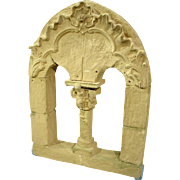 'Stone Roman Window' French Theater Decor