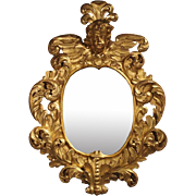 Large 17th Century Giltwood Baroque Mirror from Italy