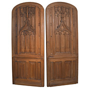 Beautiful Pair of 19th Century Gothic Doors from France