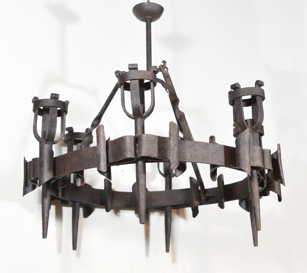 Antique French Torchere Chandelier, Circa 1900