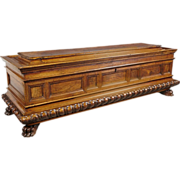Antique Italian Walnut Wood Cassone from the 1600s