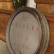 Antique French Wine Barrel Frontage-'Chablis Les Clos' 1928